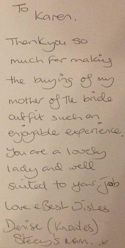 Mia Sposa Bridal Boutique Testimonial
