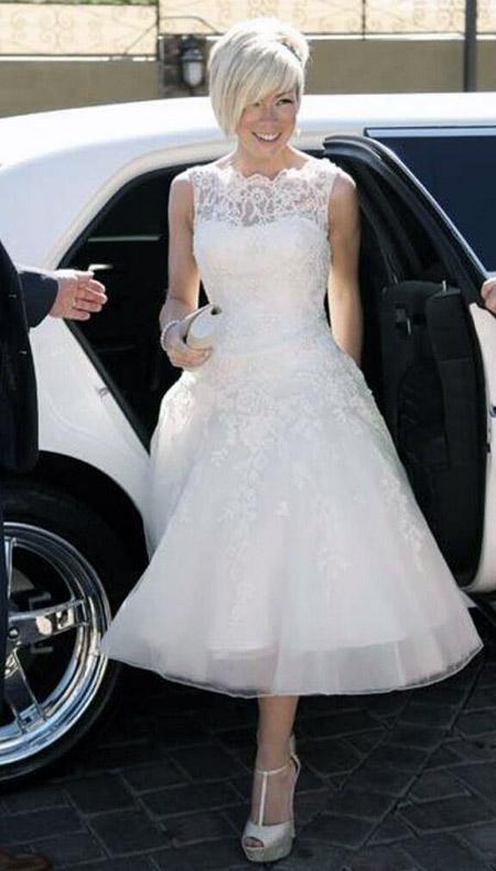 Rachel Beautiful short knee length wedding dress