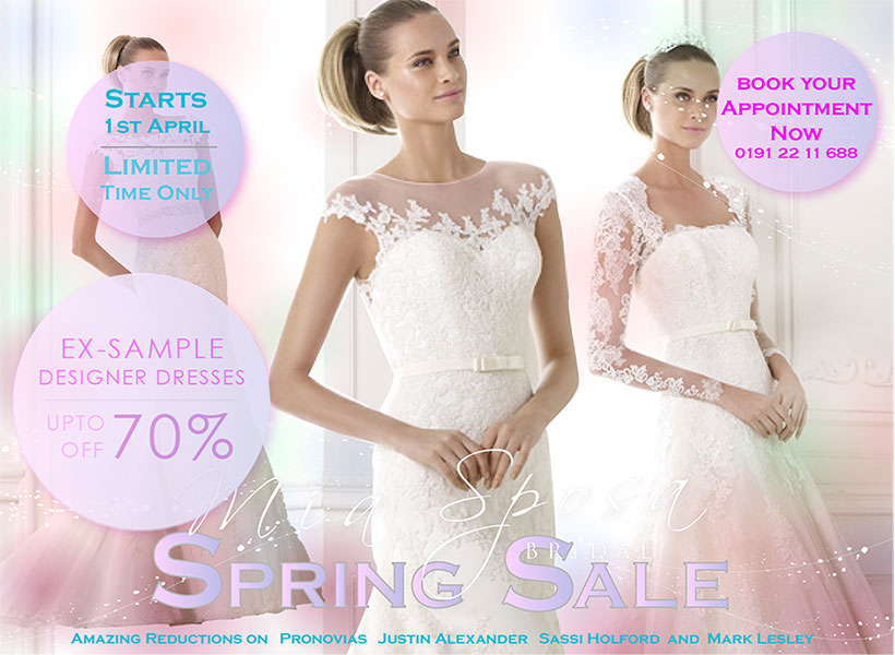 f1449d60e3955 Starting 1st April for a limited time you can grab a designer wedding gown  from this years collections from our designers at a reduced rate.