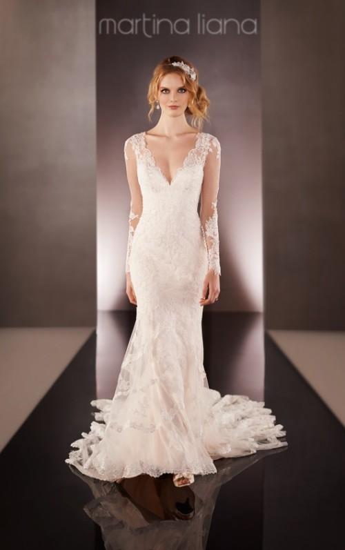 Martina Liana 675 Bridal Dress Long Sleeve