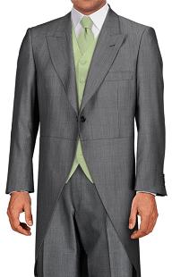 grey silk tailcoat