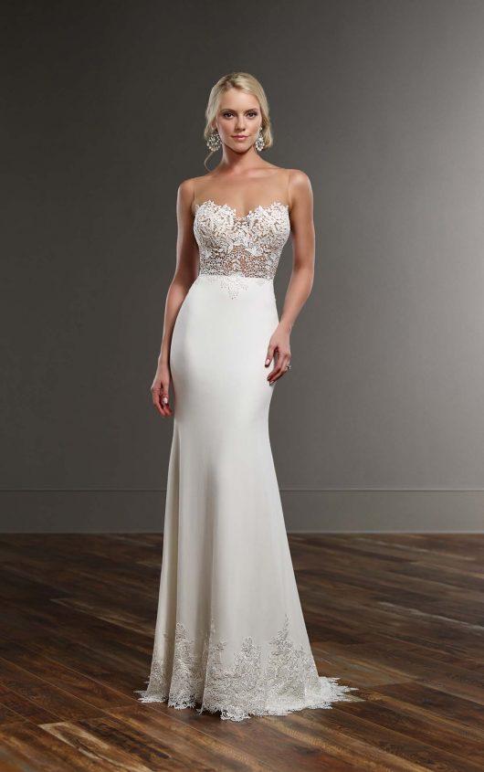 Martina Liana Brody + Sanja High Neck Wedding Dress Separates - Mia ...