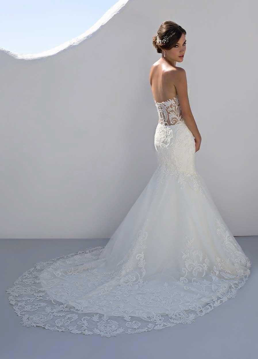 Lace Wedding Dresses Newcastle : Mark lesley b with train mia sposa bridal boutique