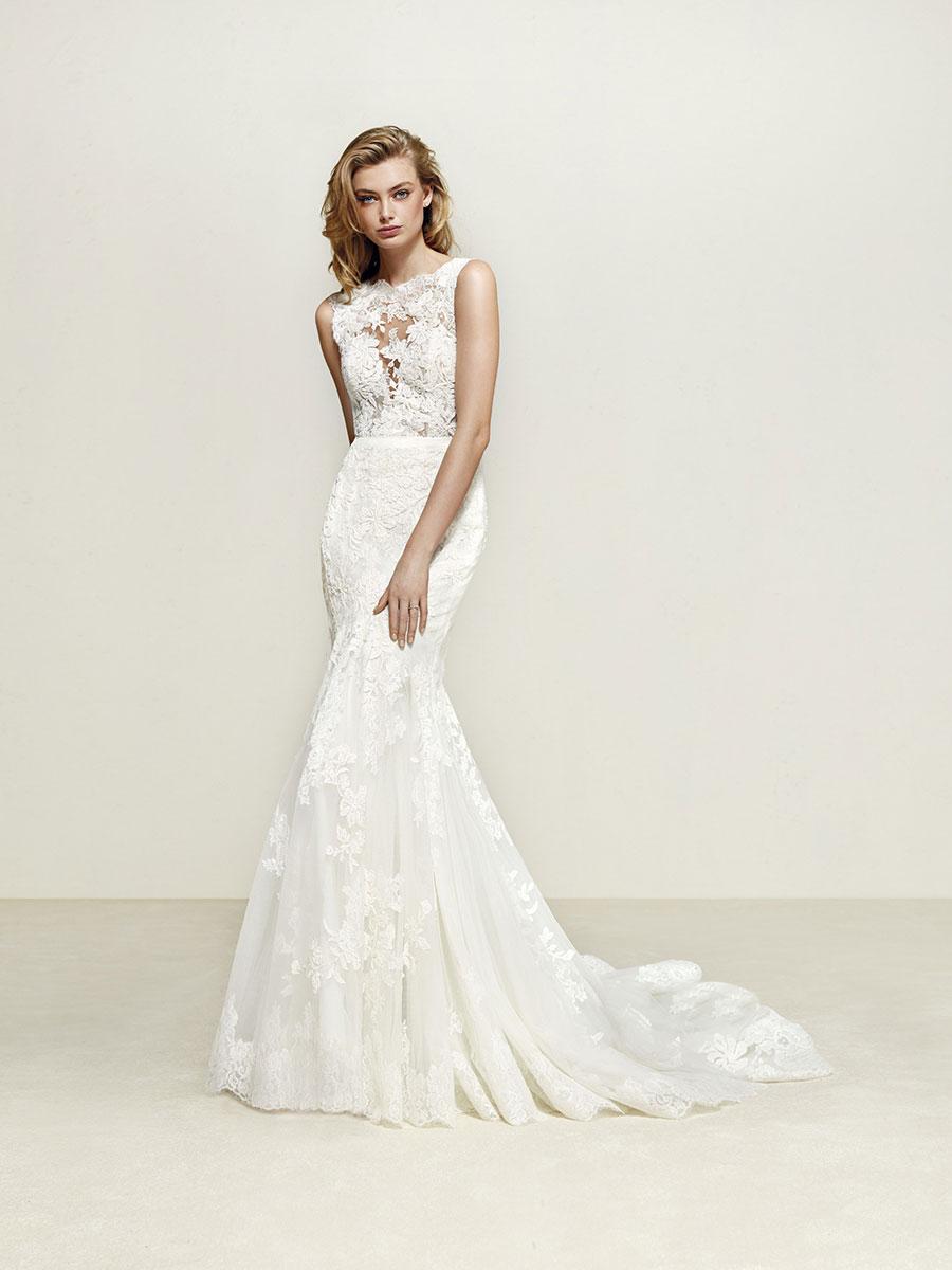 b294675dd38f Pronovias Dril Wedding Dress - Mia Sposa Bridal Boutique Newcastle