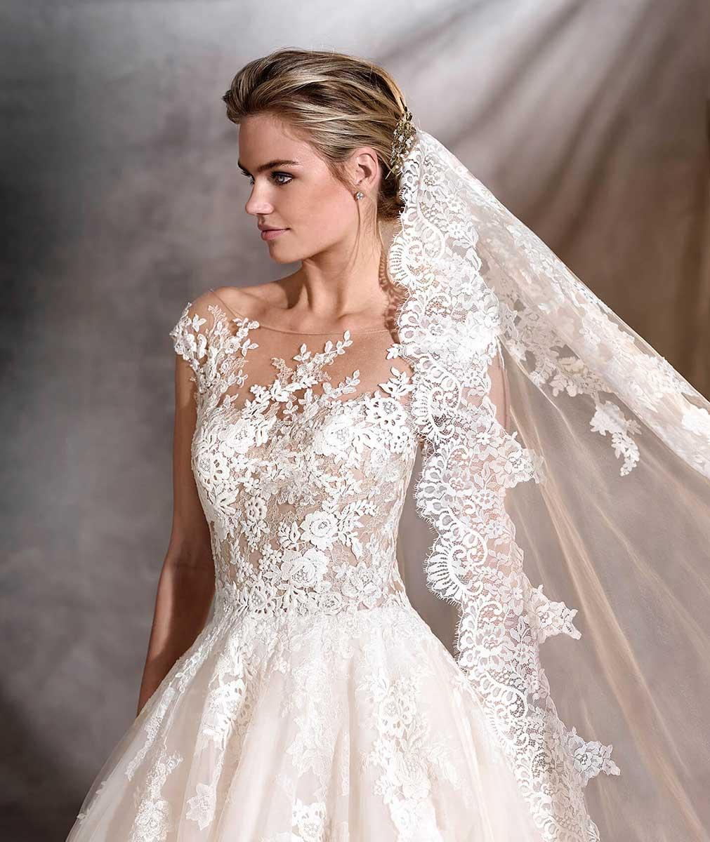 0a99acdd790 Pronovias Ofelia Size 14 Princess Wedding Dress - Mia Sposa Bridal ...
