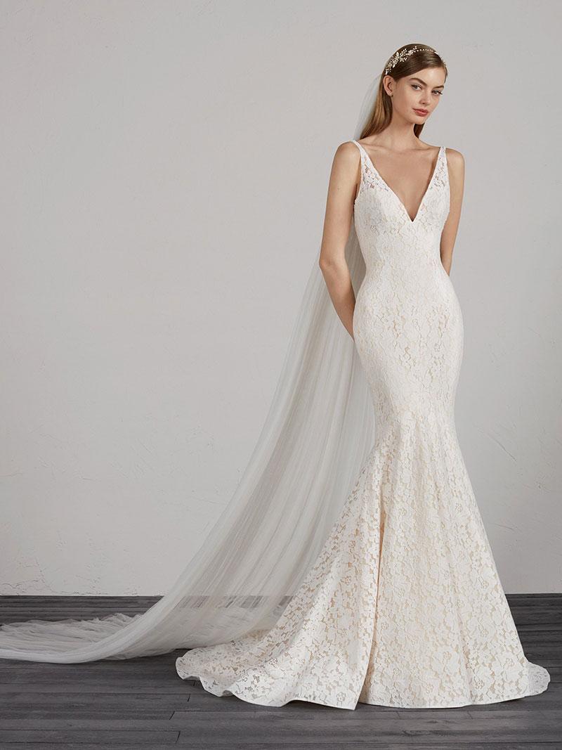 1a557de62ef5 Pronovias Mosaico Designer Wedding Dress - Mia Sposa Bridal Boutique