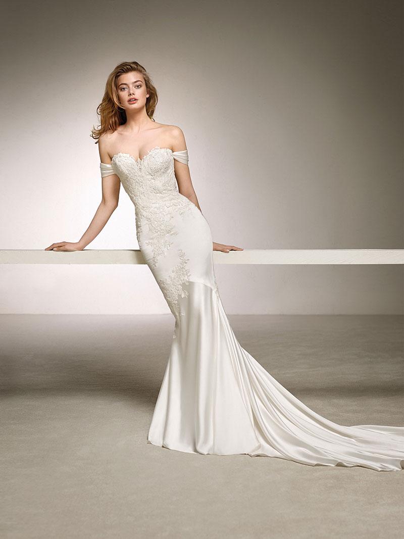 cd9c7a984276 Pronovias Dante Designer Bridal Gown - Mia Sposa Bridal Boutique